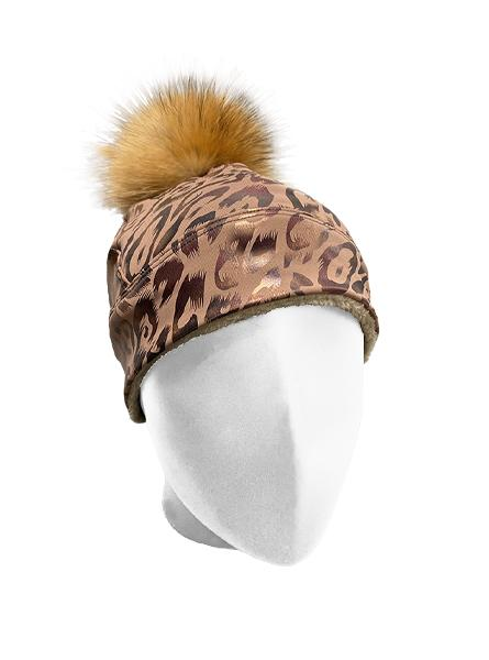 Toasted Fierce Hat w/ Removable Raccoon Pom Pom Women's Performance Gear WSI Sports