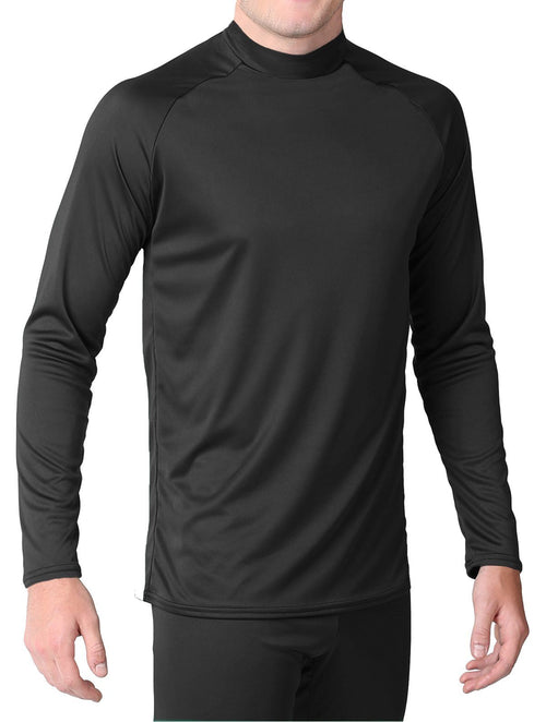 Youth - Microtech™ Form Fitted Long Sleeve Shirt Men's Performance Gear WSI Sports YM BLACK