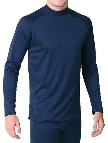 Youth - Microtech™ Form Fitted Long Sleeve Shirt Men's Performance Gear WSI Sports YM NAVY