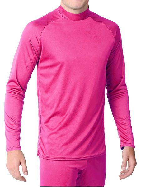 Pink Form Fitted Long Sleeve Shirt