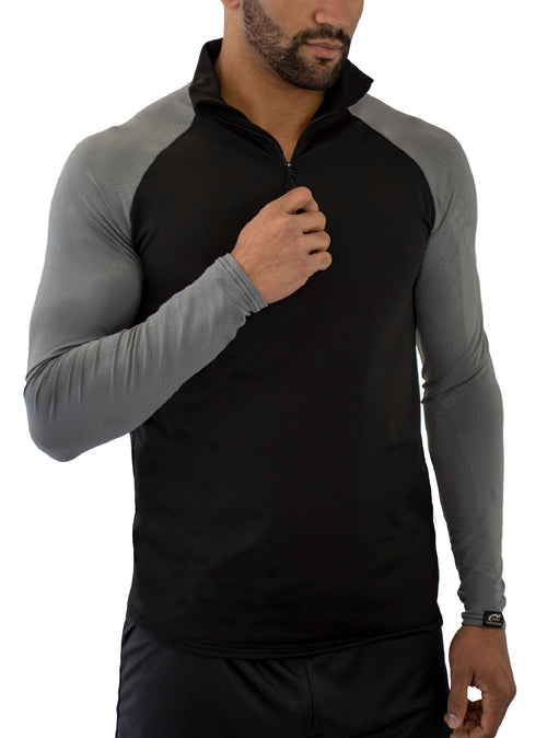 HYPRTECH™ Bamboo ProWikMax® 1/4 Zip Shirt Long Sleeve Shirts WSI Sports