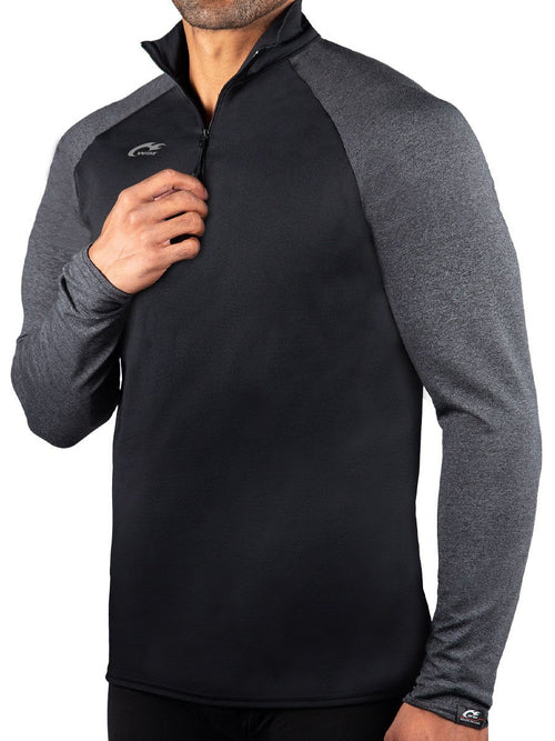 ProWikMax 2-Tone 1/4 Zip Long Sleeve Shirt Men's Performance Gear WSI Sports