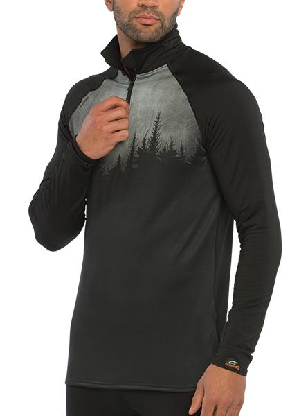 HYPRTECH™ BAMBOO Hexacamo 1/2 Zip Long Sleeve