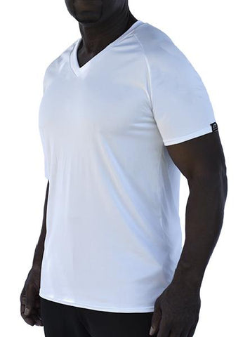 Microtech Short Sleeve V-Neck Raglan Shirt Men's Performance Gear WSI Sports