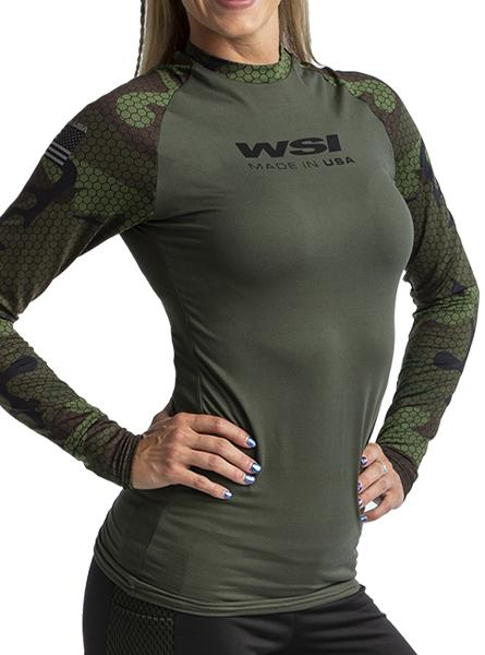 HYPRTECH™ BAMBOO Hexacamo 2 Tone Long Sleeve Women's Performance Gear WSI Sports