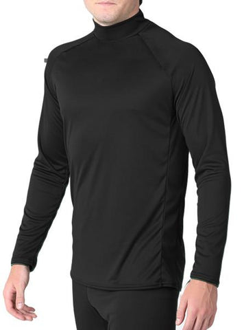 Arctic Microtech™ Form Fitted Long Sleeve Shirt Men's Performance Gear WSI Sports YM BLACK