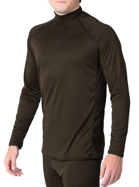 Arctic Microtech™ Form Fitted Long Sleeve Shirt Men's Performance Gear WSI Sports YM CHOCOLATE BROWN - Made in USA cold weather wicking and warming shirt
