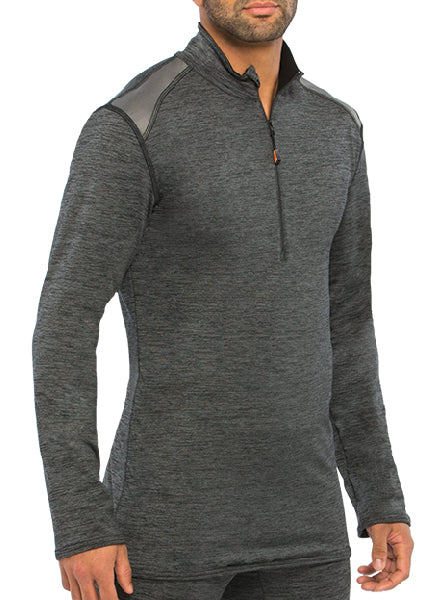 1/4 Zip Polo with Underarm Mesh Panel