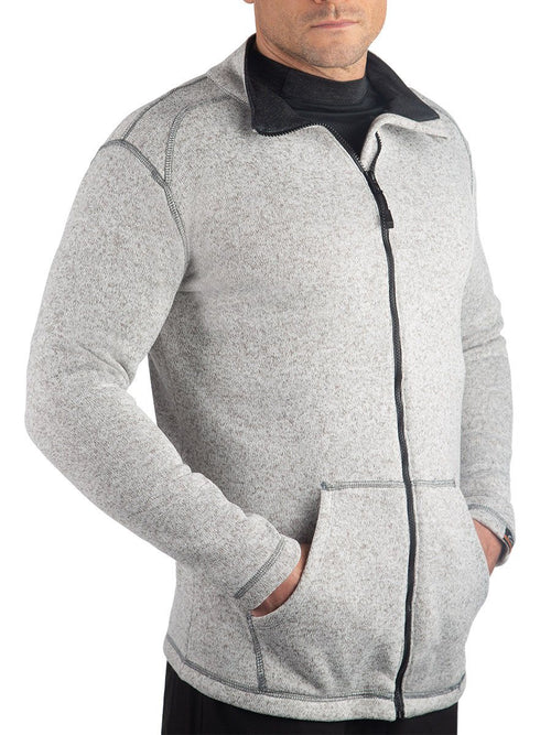Knit HEATR® Long Sleeve Full Zip Cold Weather Gear WSI Sportswear
