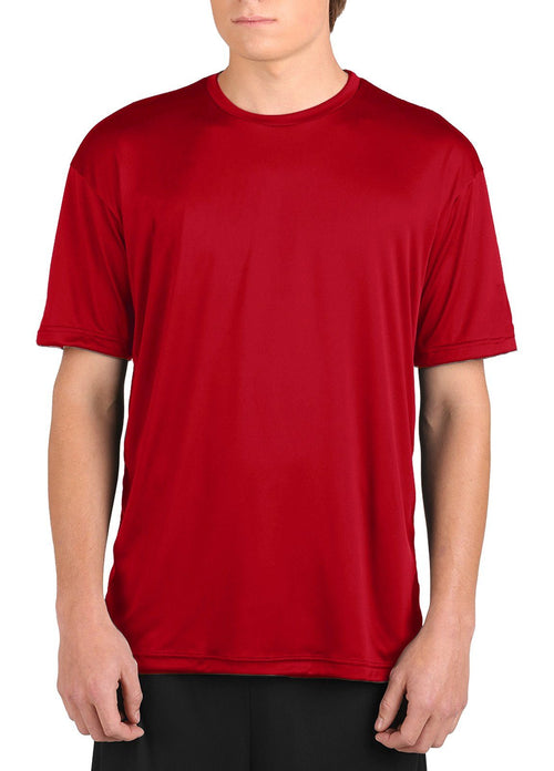 Microtech™ Youth Loose Fit Short Sleeve Shirt Men's Performance Gear WSI Sports YM RED