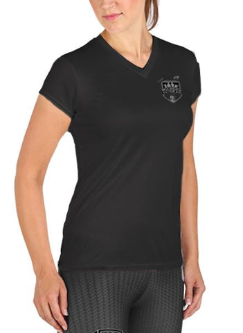 Wounded Vets Microtech™ Women's Loose Fit Short Sleeve V-Neck Shirt