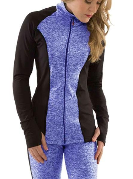 ProWikMax® Blue Onyx Princess Cut Full Zip Jacket Women's Performance Gear WSI Sports