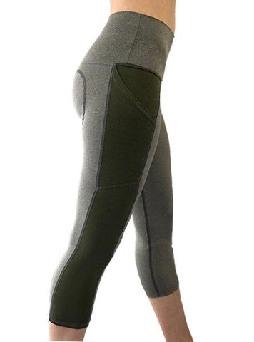 HYPRTECH™ BAMBOO 2 Tone Capri With Pockets Women's Performance Gear WSI Sports XS
