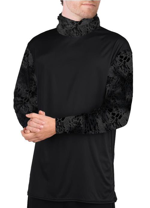 Prym1 Camo loose Long Sleeve Bamboo Shirt with attached Neck gaitor