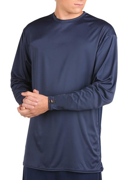 Microtech™ Loose Fit Long Sleeve Shirt Men's Performance Gear WSI Sports YM NAVY