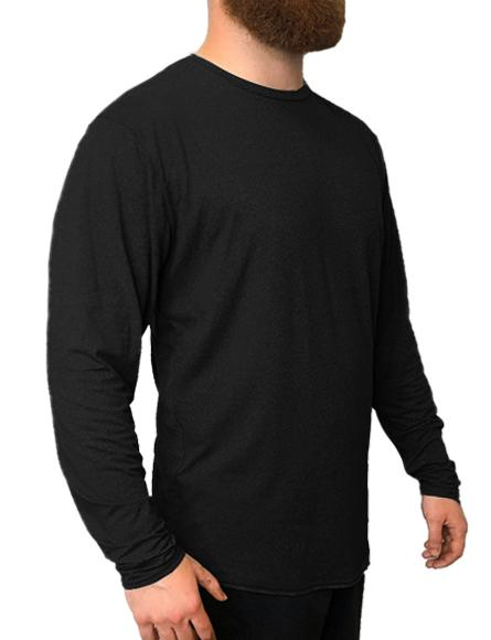 SoftTECH™ Long Sleeve Relaxed Fit WSI Sportswear S BLACK