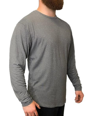 SoftTECH™ Long Sleeve Relaxed Fit WSI Sportswear S HEATHER GREY