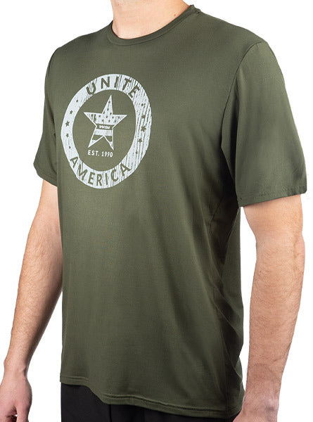 Unite America Olive SoftTECH™ Short Sleeve Tee