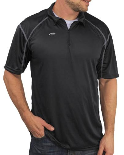 Microtech™ Loose Fit 1/4 Zip Polo Shirt Men's Performance Gear WSI Sports