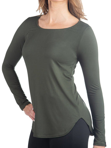 Women's Olive SoftTECH™ Long Sleeve Women's Performance Gear WSI Sportswear