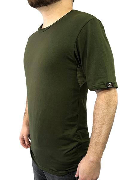 Short Sleeve Tee with Underarm Mesh Panel