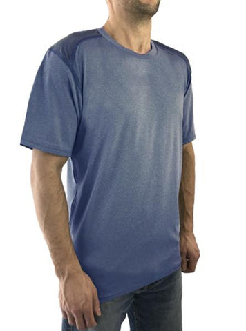 HYPRTECH™ BAMBOO Short Sleeve Tee With Mesh Back Men's Performance Gear WSI Sports S Ice Blue/Royal