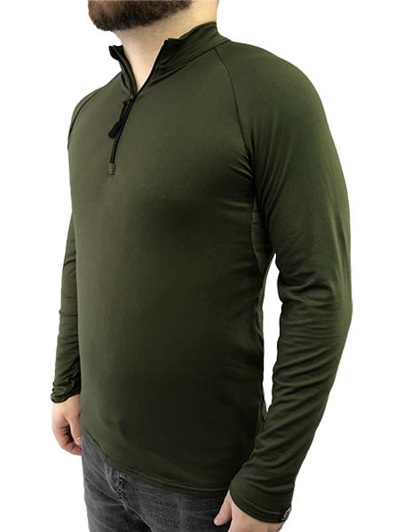 1/4 Zip Longsleeve Shirt with Underarm Mesh Panel
