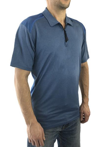 HYPRTECH™ BAMBOO 1/4 Zip Polo with Mesh Back