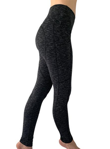 Tri-Heather Pocketed Legging Women's Performance Gear WSI Sports