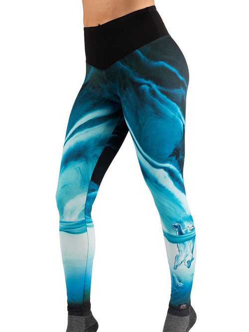 Carly Jo Polar Bear Leggings Women's Performance Gear WSI Sportswear - Made in USA