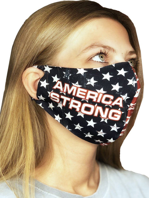 Contoured Protective Mask - America Strong WSI Sportswear