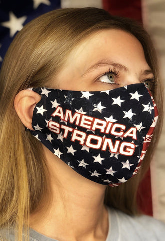 Contoured Protective Mask - America Strong