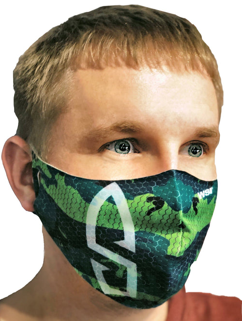 Contoured Protective Mask - Camo Bullet