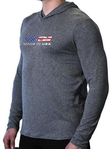 USA SoftTECH™ Lightweight Hoodie WSI Sportswear S HEATHER GREY