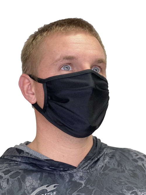 Black Mask With Nose Piece and Strap mask WSI Sportswear