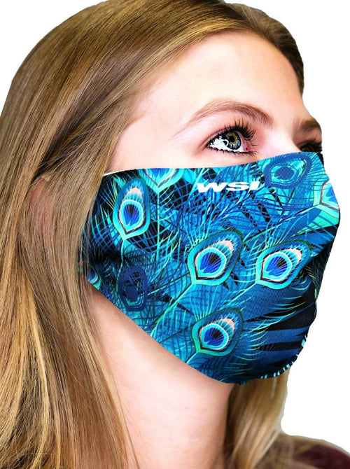 Contoured Protective Mask - Obsidian Peacock