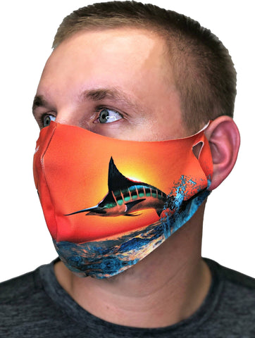 Contoured Protective Mask - Sundown Marlin