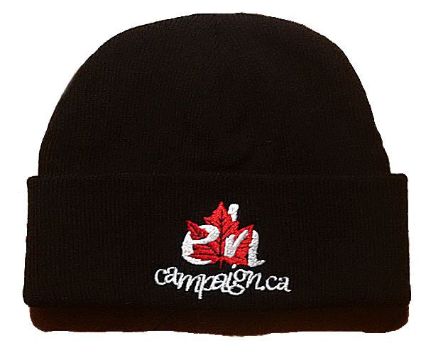 Black Cuffed Beanie Toque