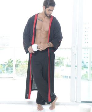 Chevalier - Men's Lounging Long Hoodie Robe, and Matching Pants