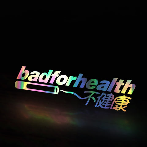 bad for health cig (decal)