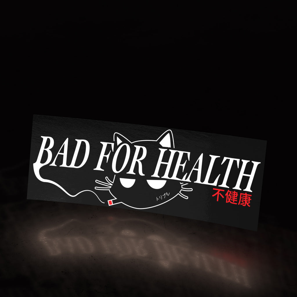 bad for health classic (sticker) - triple cat deluxe