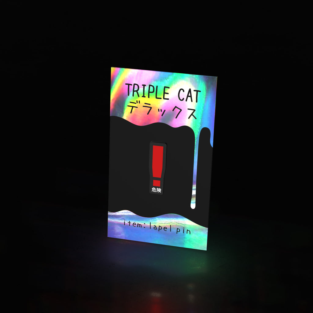 "spotted ""!"" (pin) - triple cat deluxe"