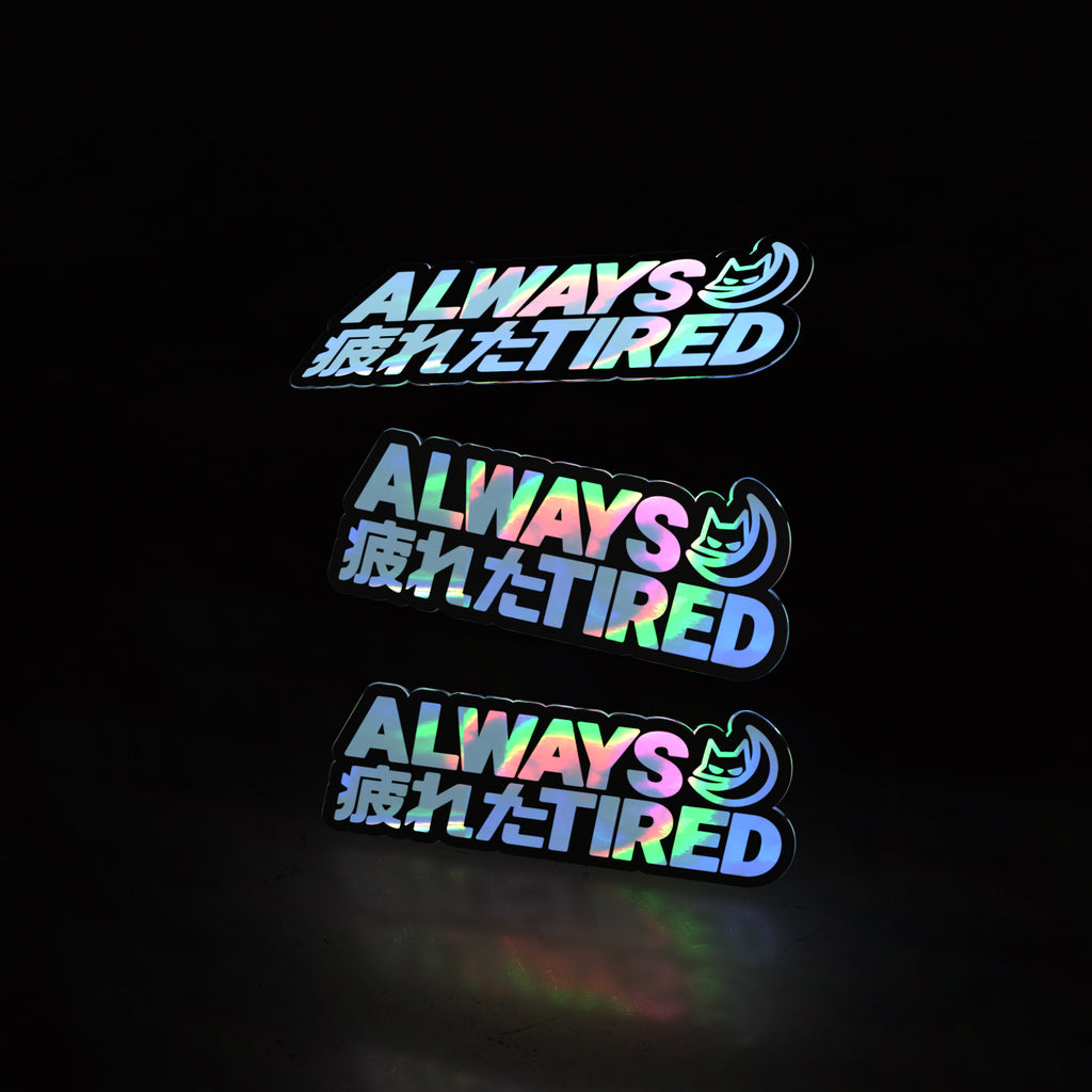 always tired minis (3pk stickers)