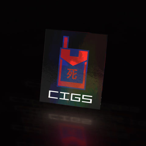 cigs - metal gear (sticker)
