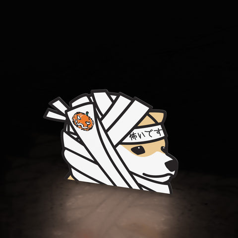 mummy boy shiba (halloween exclusive sticker)