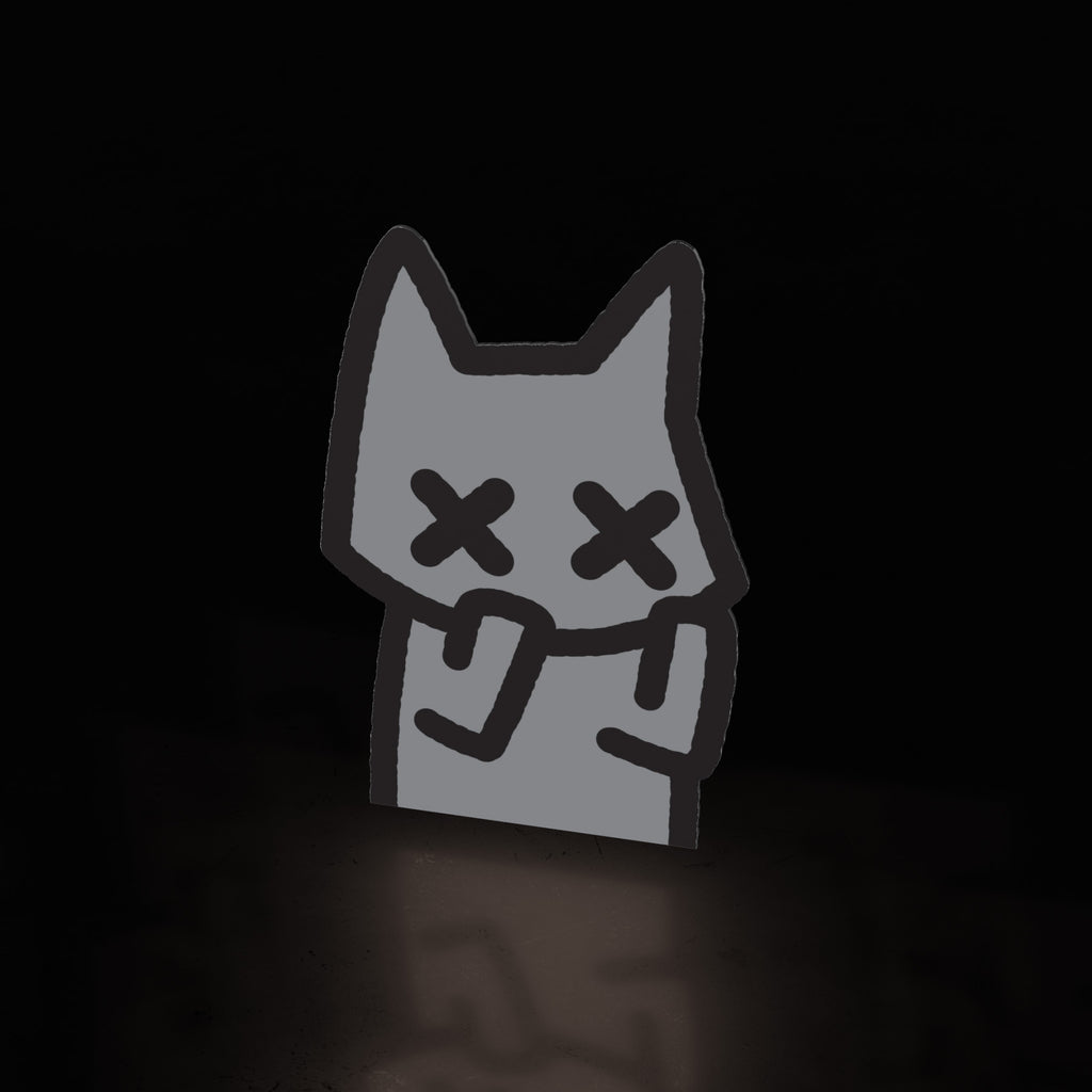 anxiety cat peek (sticker) - triple cat deluxe