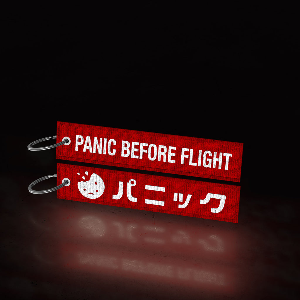 panic before flight 😰  (flight tag)
