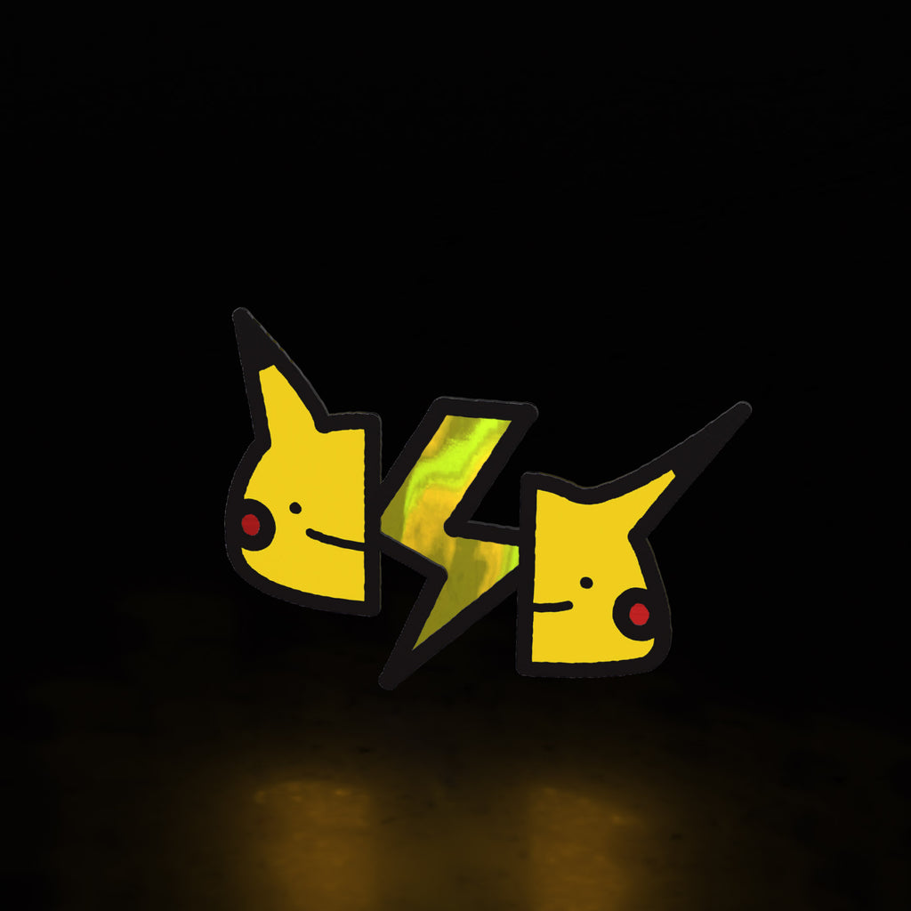 pikachu brains (sticker)