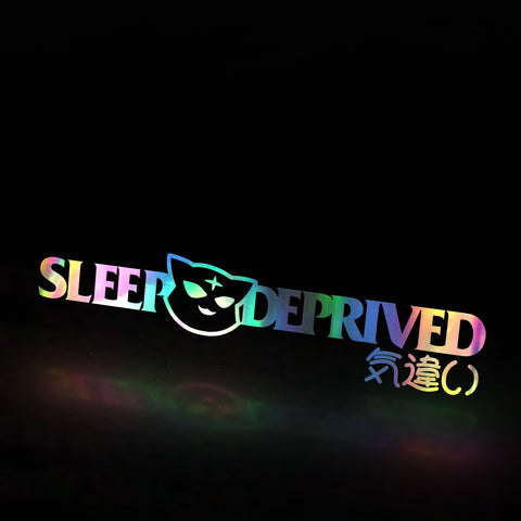 sleep deprived classic (decal)