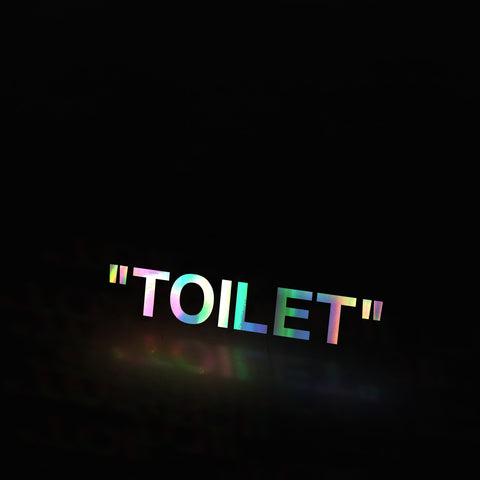 """TOILET"" (decal)"
